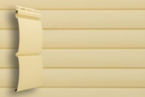 Классический сайдинг Гранд Лайн Блок-хаус цвет Ванильный
