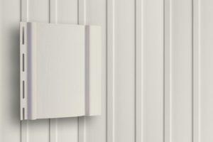 Классический сайдинг Гранд Лайн Вертикальный цвет Белый